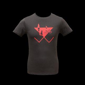 t-shirt fairtrade slowfashion fahrrad hund wald nachhaltig fair anthrazit neon